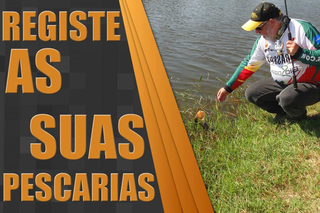 Registe as suas pescarias