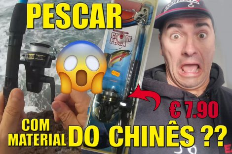 À pesca com material do chinês